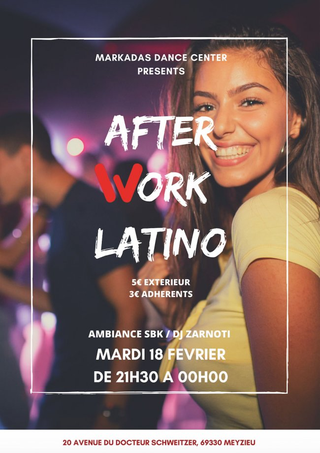 Flyer AFTER WORK LATINO